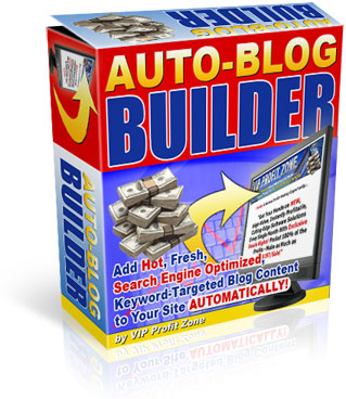 Product picture Auto Blog Builder - Private Label Rights To A Brand New And Profitable Software You Can Stick Your Name On That Earns You Money While You Sleep!